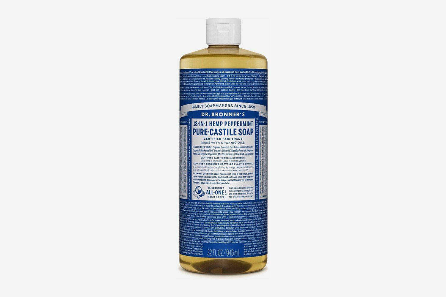 18-in-1 Pure-Castile Liquid Soap