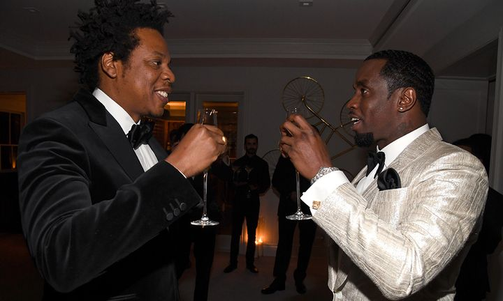 Jay-Z and Diddy at Diddy's 50th Birthday Bash
