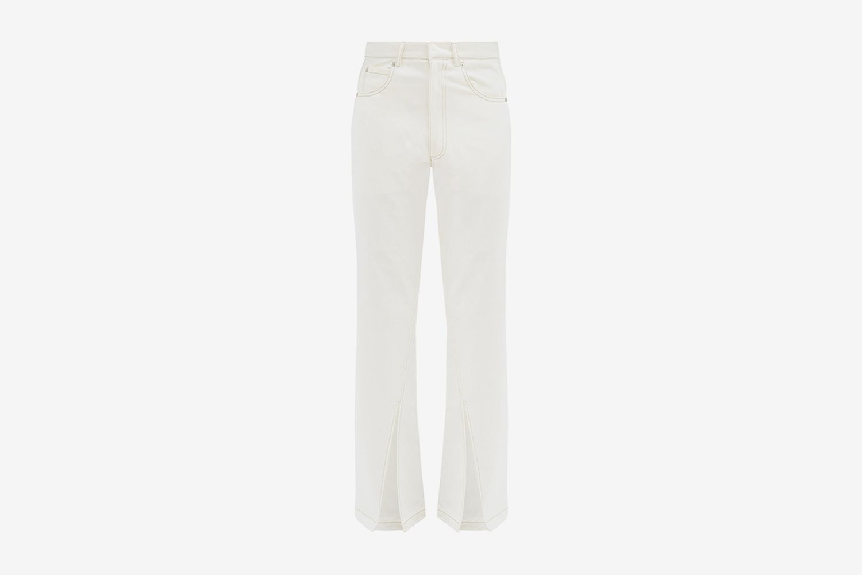 Slit-Cuff Straight-Leg Jeans