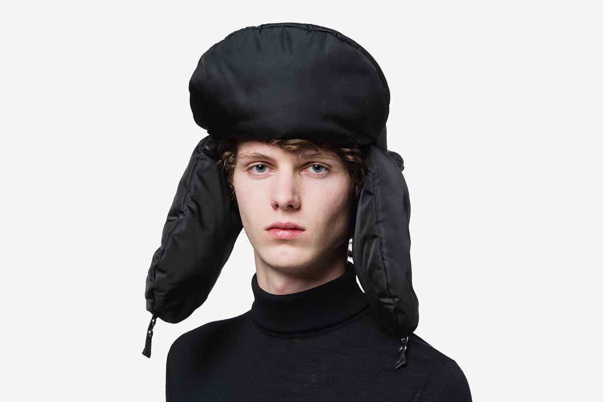 Padded Nylon Gabardine Hat