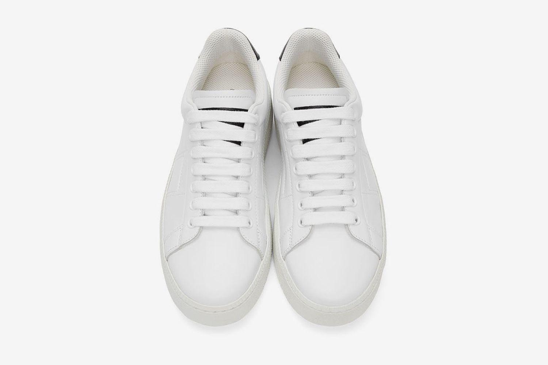 Wedge Leather Tennis Sneakers
