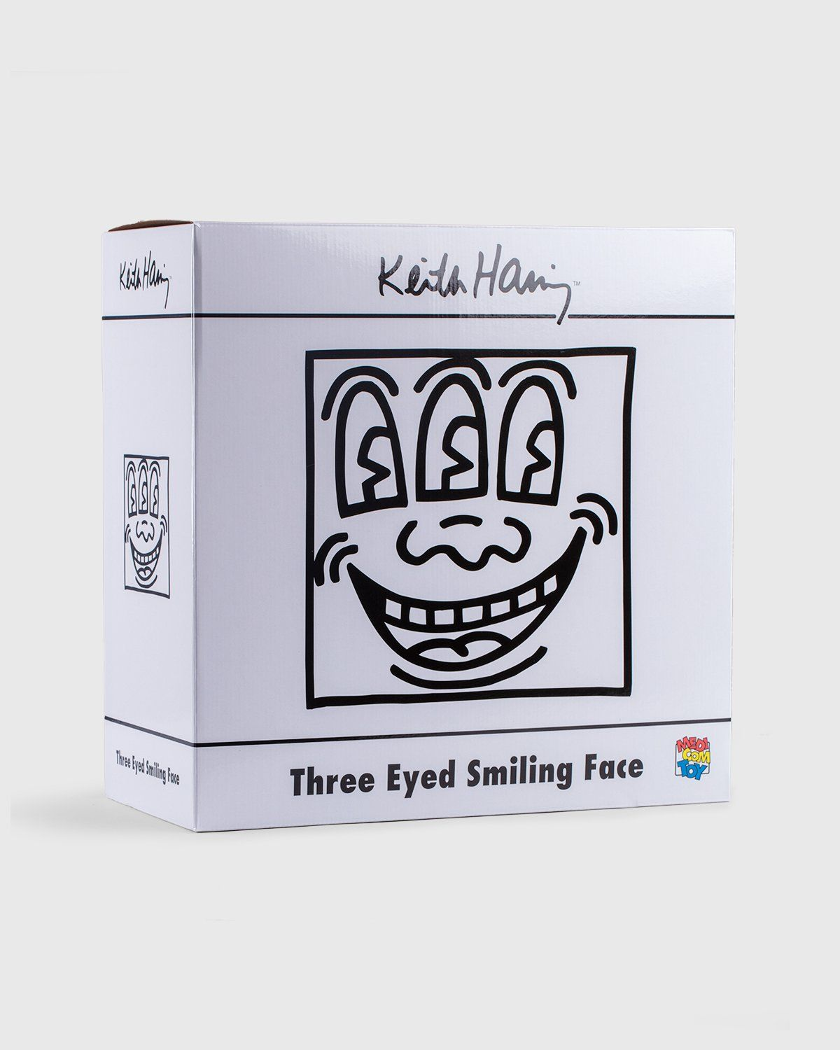 Medicom — Keith Haring Three Eyed Smiling Face Statue White - Image 5