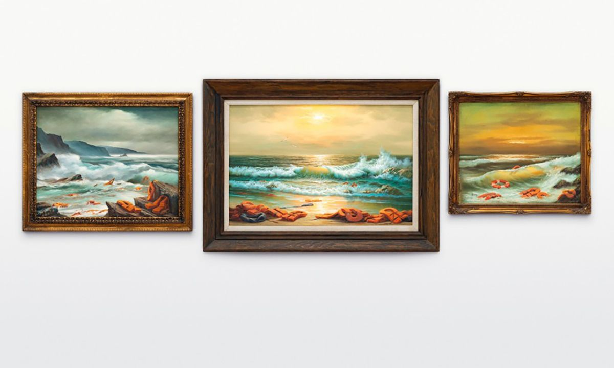 Banksy's 'Mediterranean Sea View' Triptych Sells for Nearly $3 Million