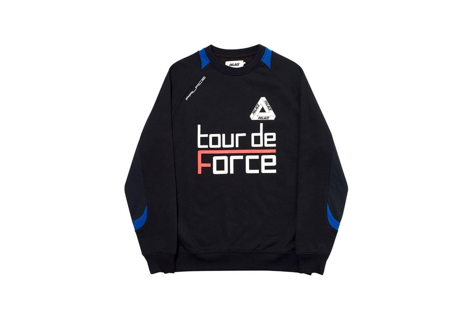 Palace 2019 Autumn Crew Tour De Force black front 2510 1