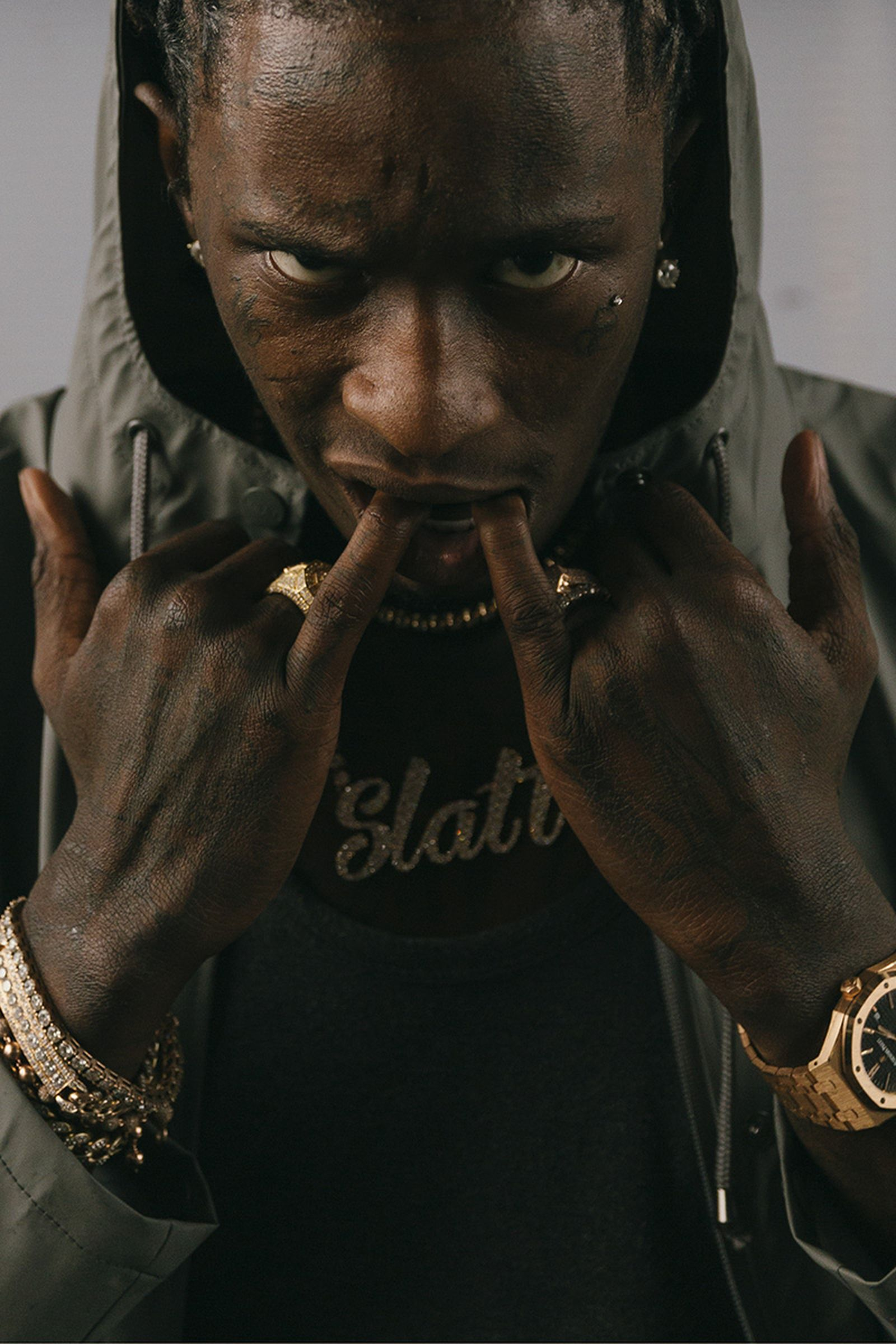 portrait of young thug