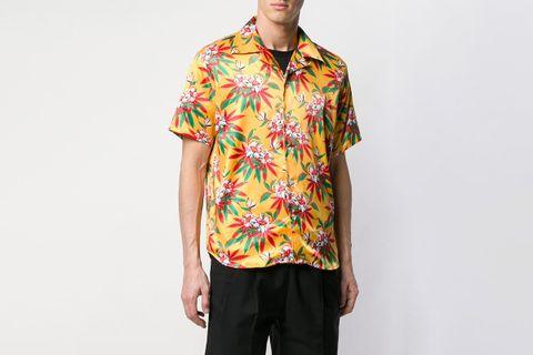 Hawaiian Floral Print Shirt
