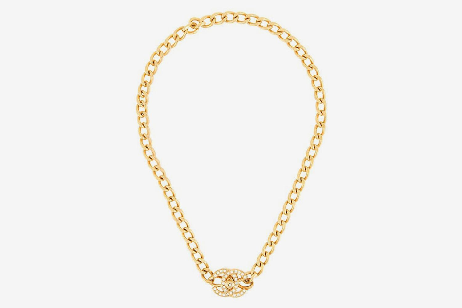 CC Turnlock Chain Necklace
