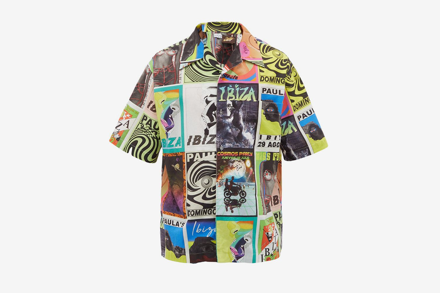 Psychedelic Flyer-Print Cotton Shirt