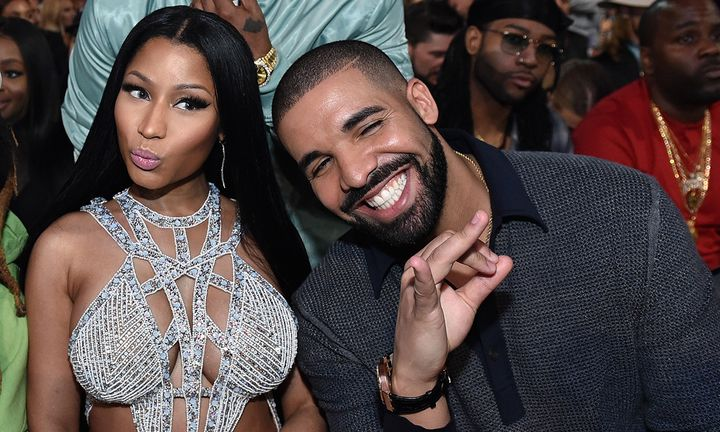 Nicki Minaj and Drake attend the 2017 Billboard Music Awards