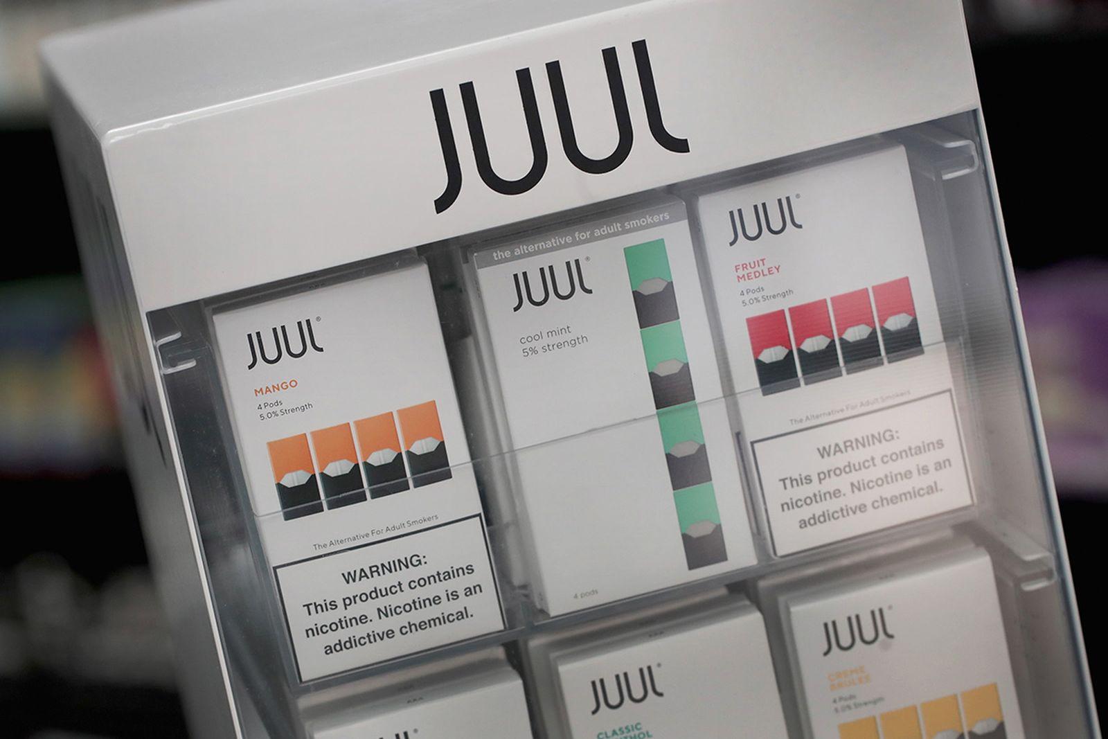 juul suspends flavored pods sales vaping
