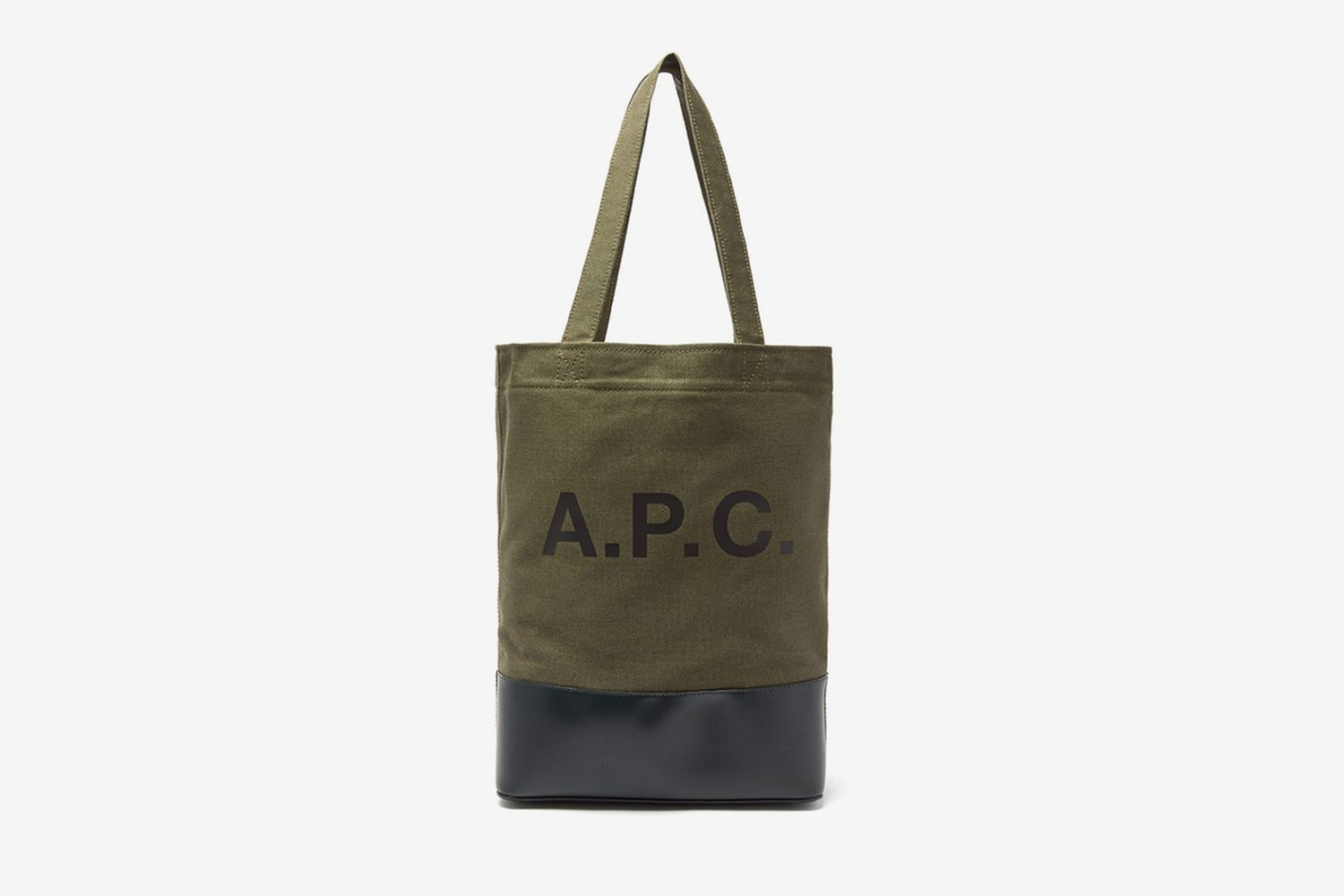 Axel Bi-colour Canvas And Leather Tote
