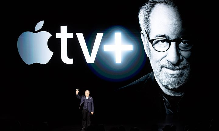 Steven Spielberg Apple TV+ logo
