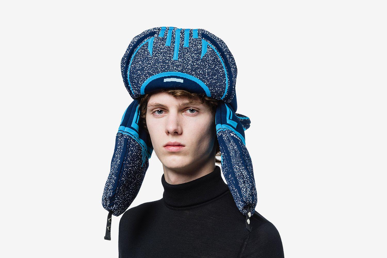 Jacquard Padded Trapper Hat