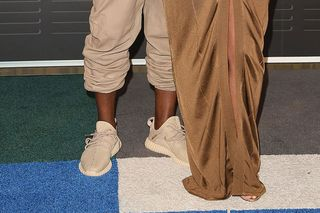 """e7905276b Kanye West Spotted on the VMA Red Carpet in adidas Yeezy Boost 350 """"Beige"""""""