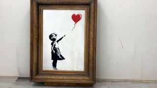 banksy girl with a balloon shredding full video sothebys