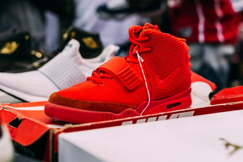 """4a929efd Kanye West x Nike Air Yeezy 2 """"Red October"""" — $4,400"""