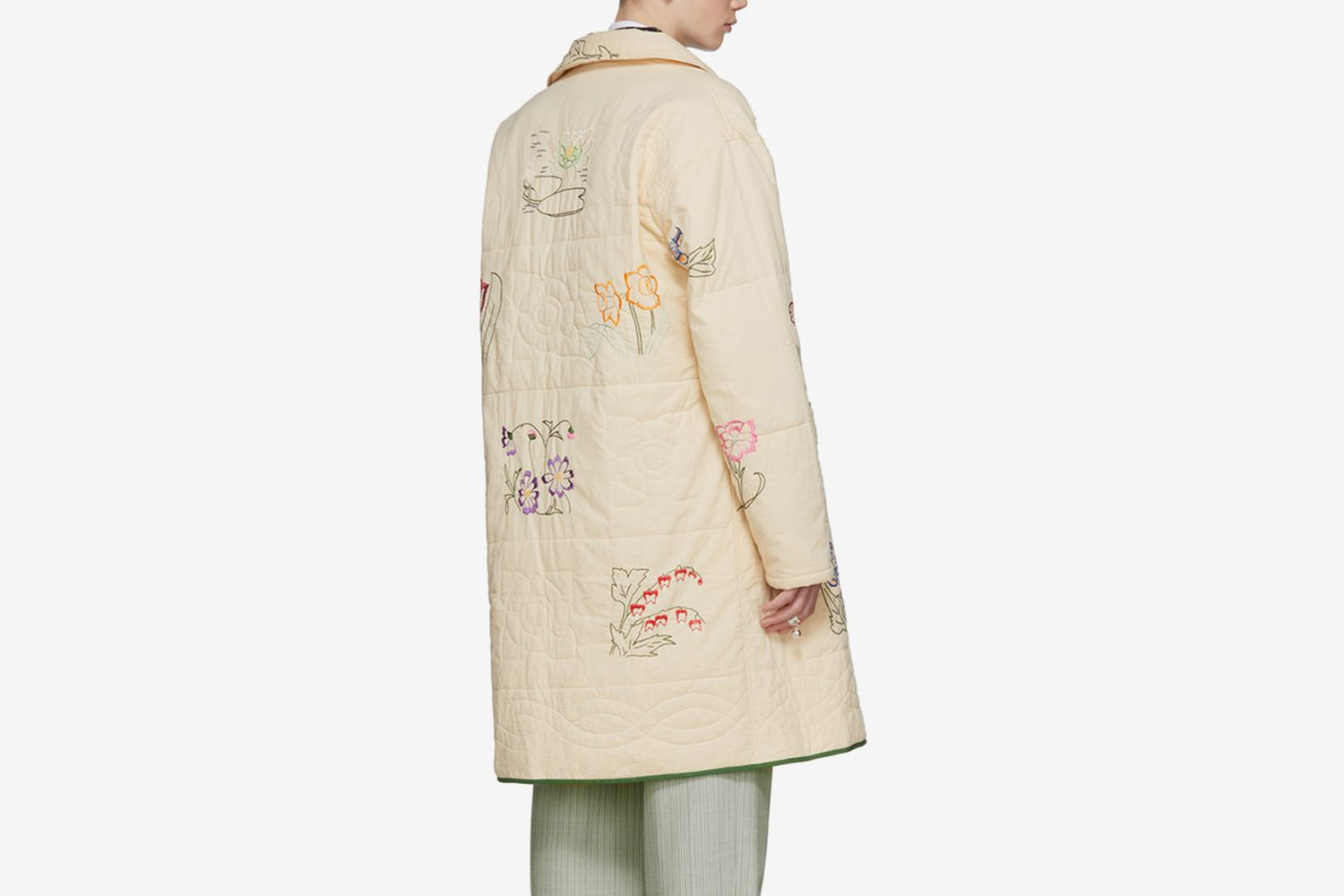 Floral Long Workwear Coat