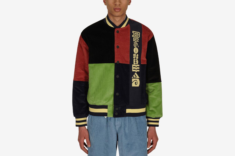 Jacquard Patchwork Letterman Jacket