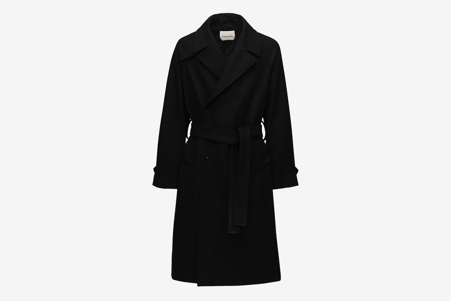 Roma Wool Blend Trench Coat W/ Belt