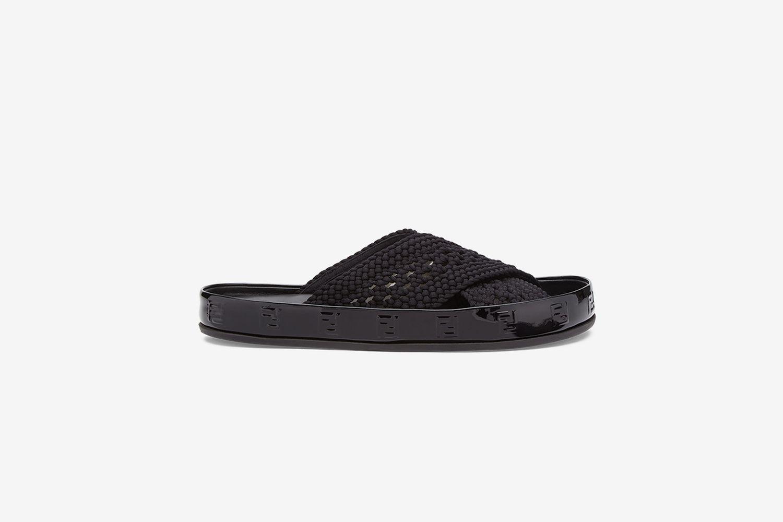 Double Cross Woven Sandals