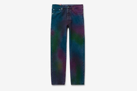 1996 Tie-Dyed Denim Jeans