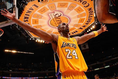 Kobe Bryant hands raised