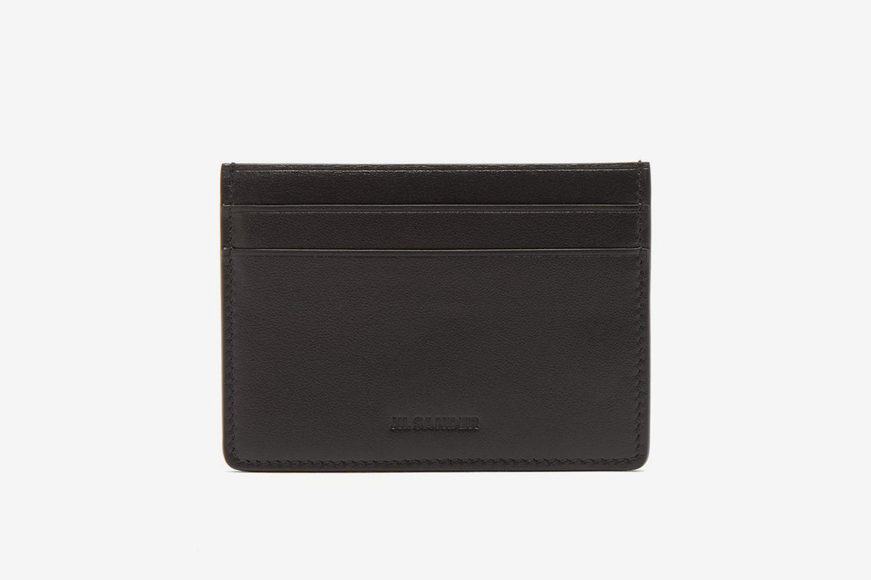 Logo-Debossed Leather Cardholder