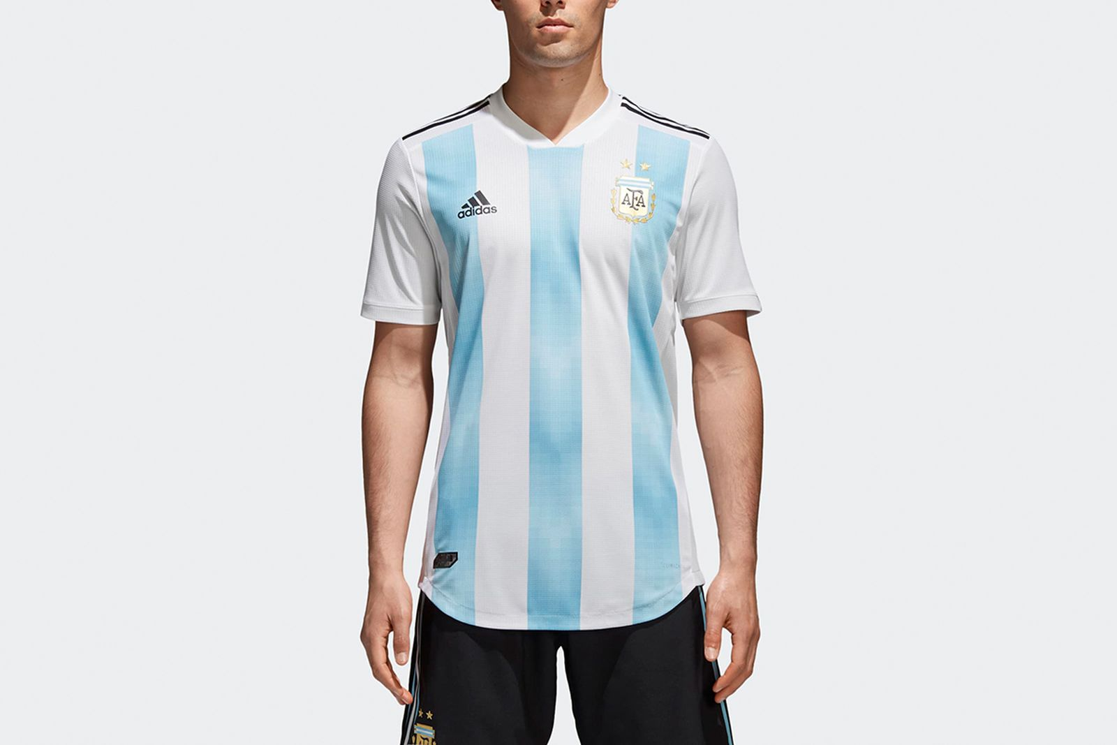 Argentina Home Authentic Jersey White BQ9329 21 model 2018 FIFA World Cup Adidas