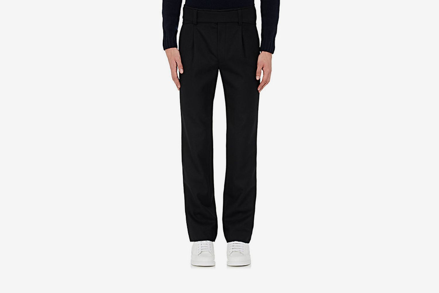 Pleated-Front Wool Trousers