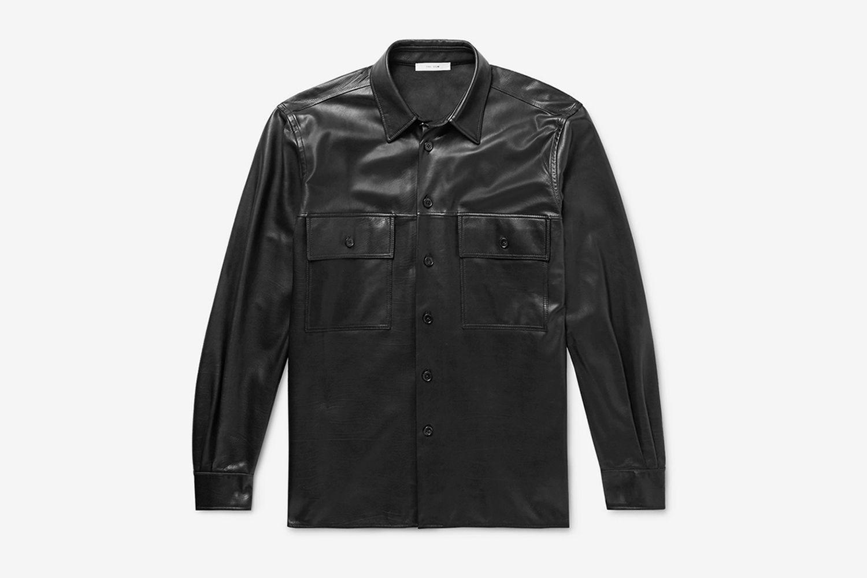 Johnny Leather Shirt Jacket
