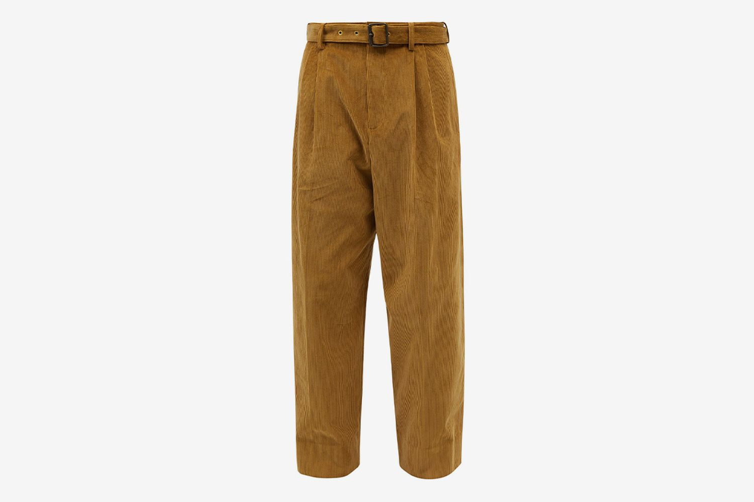 Pleated Corduroy Trousers
