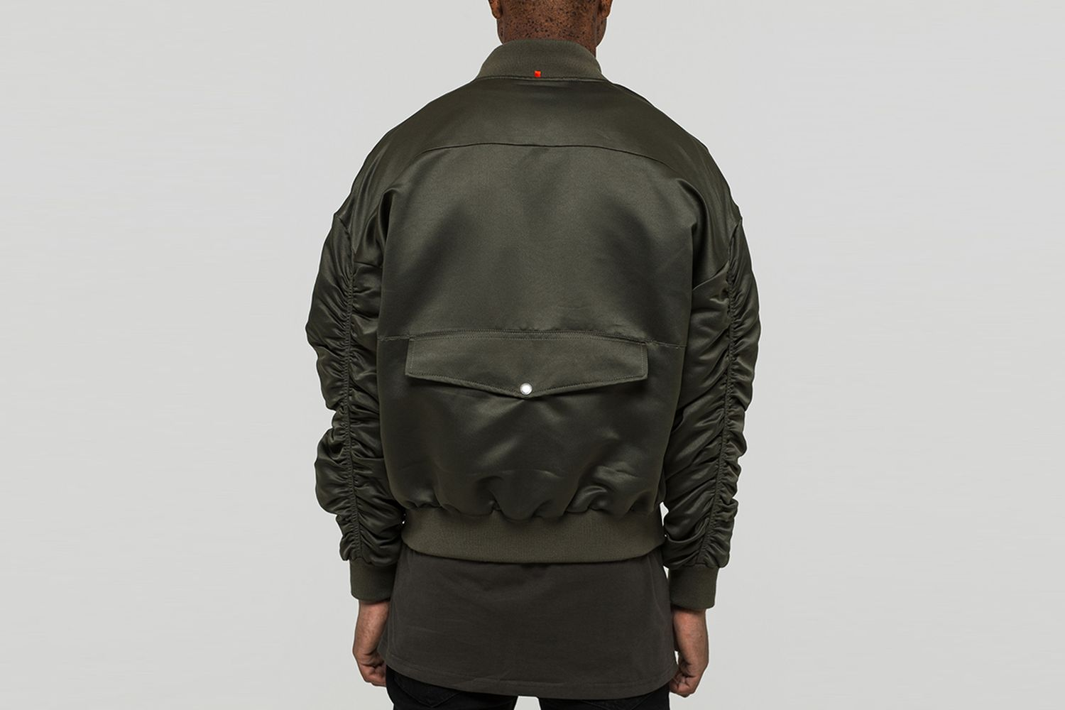 Signature Satin Bomber