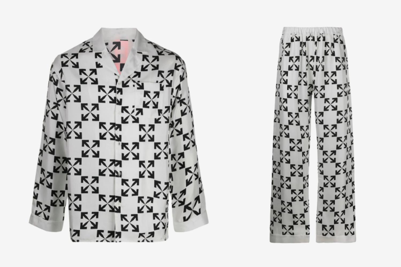 Arrows Print Silk Pyjamas