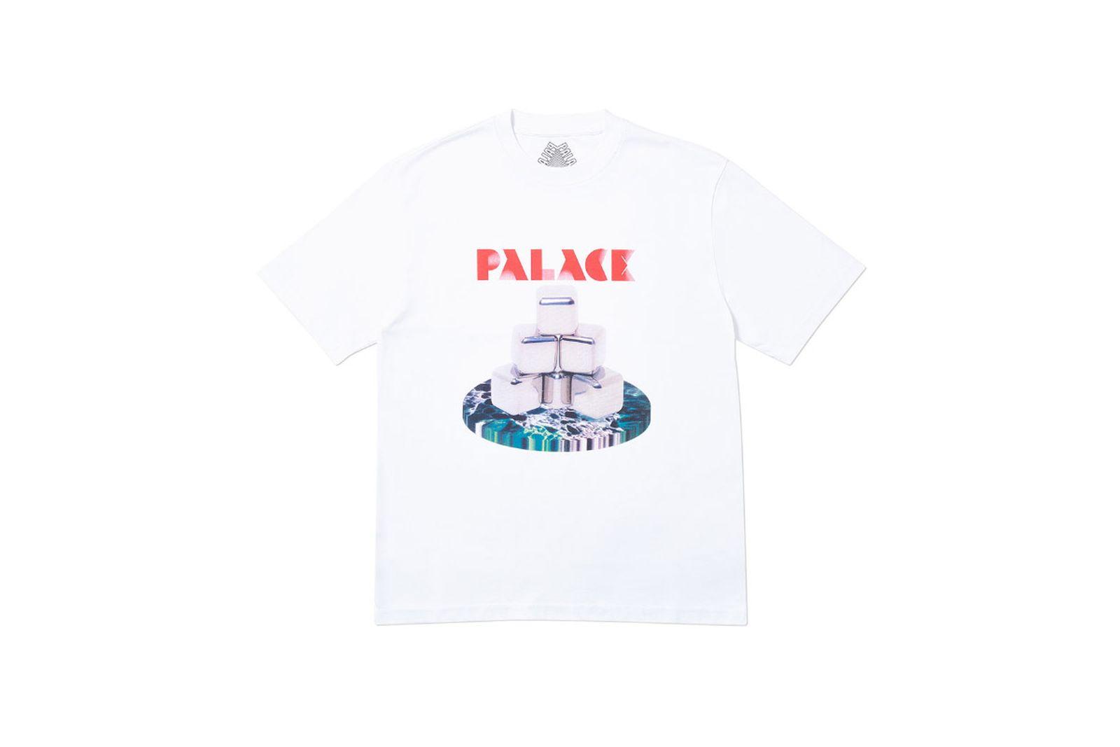 Palace 2019 Autumn T Shirt P Cubes white