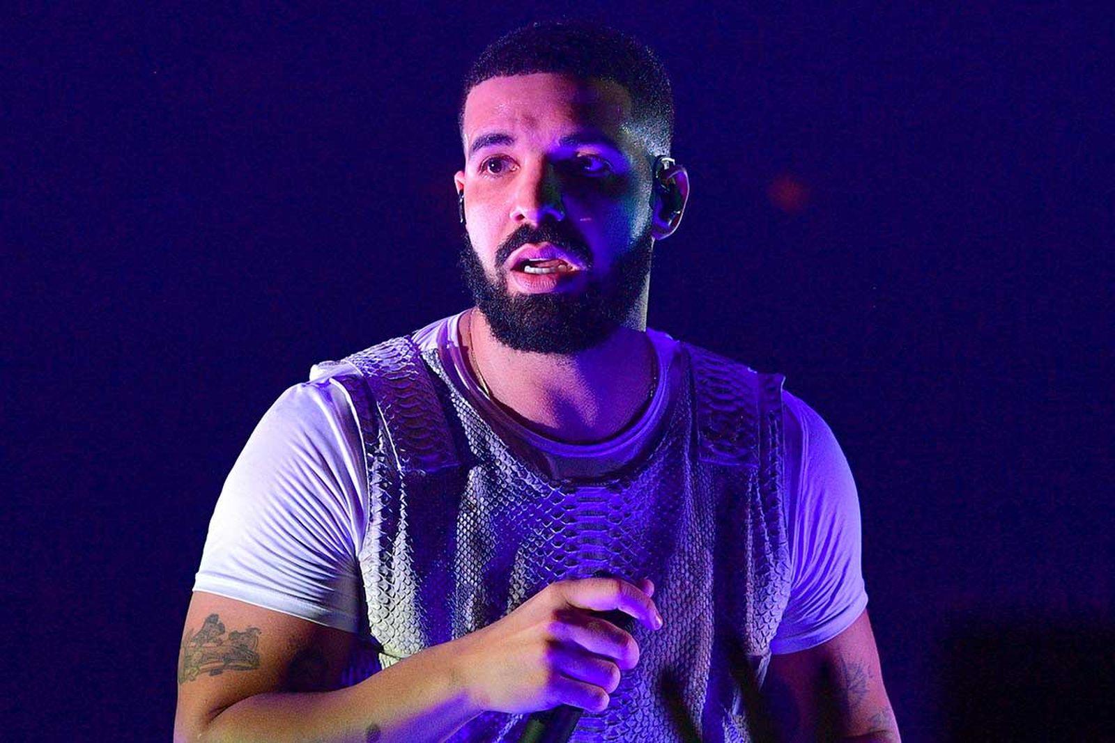 Drake performing on stage