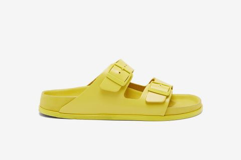 Arizona Two-Strap Leather Sandals