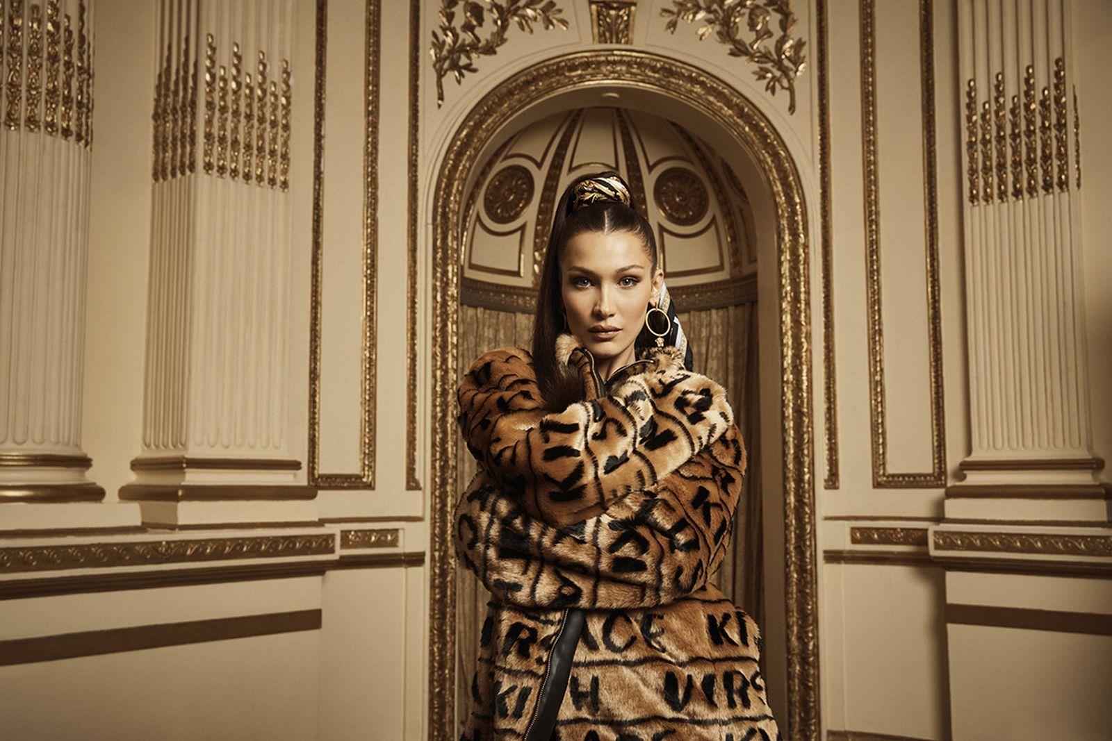 kith versace campaign Gigi Hadid bella hadid ronnie fieg