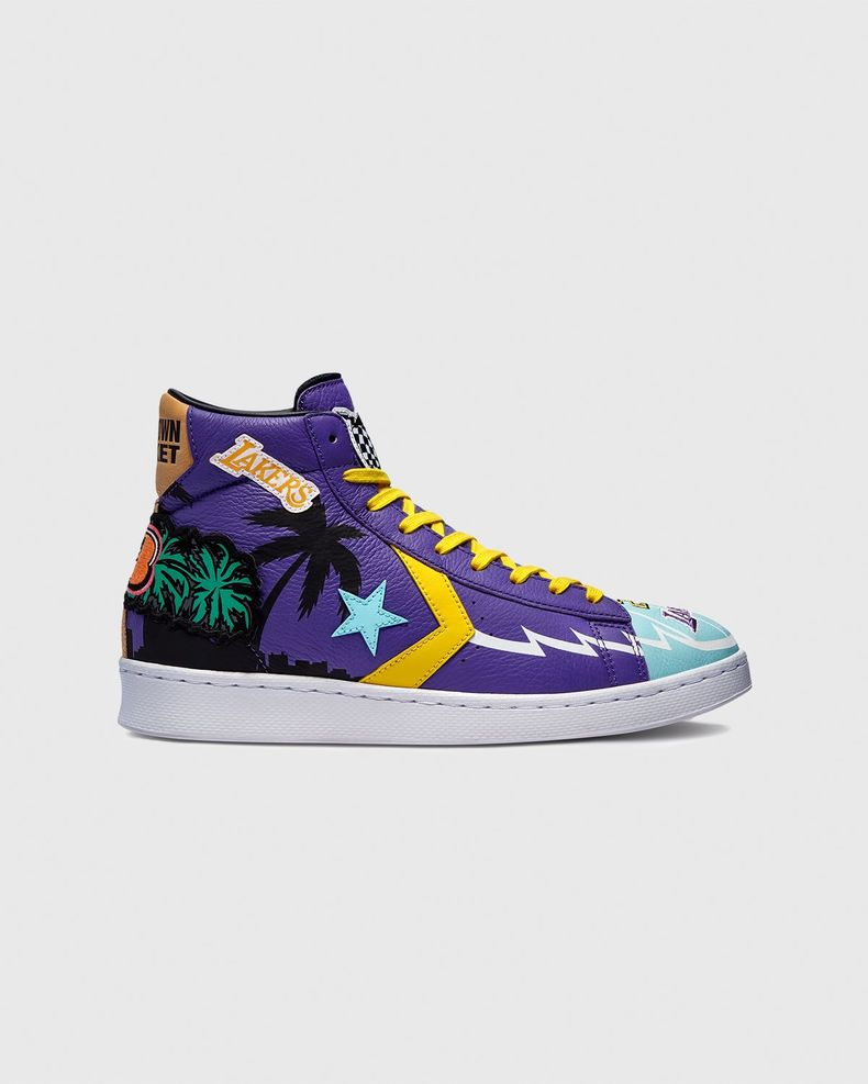 Converse x Jeff Hamilton —  Pro Leather High Violet/Poolside