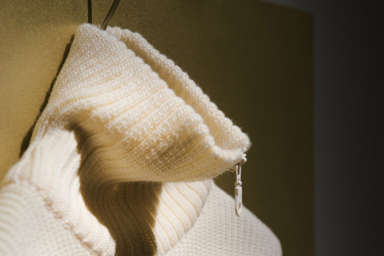 Zip-Up Heavy Knit Jumper