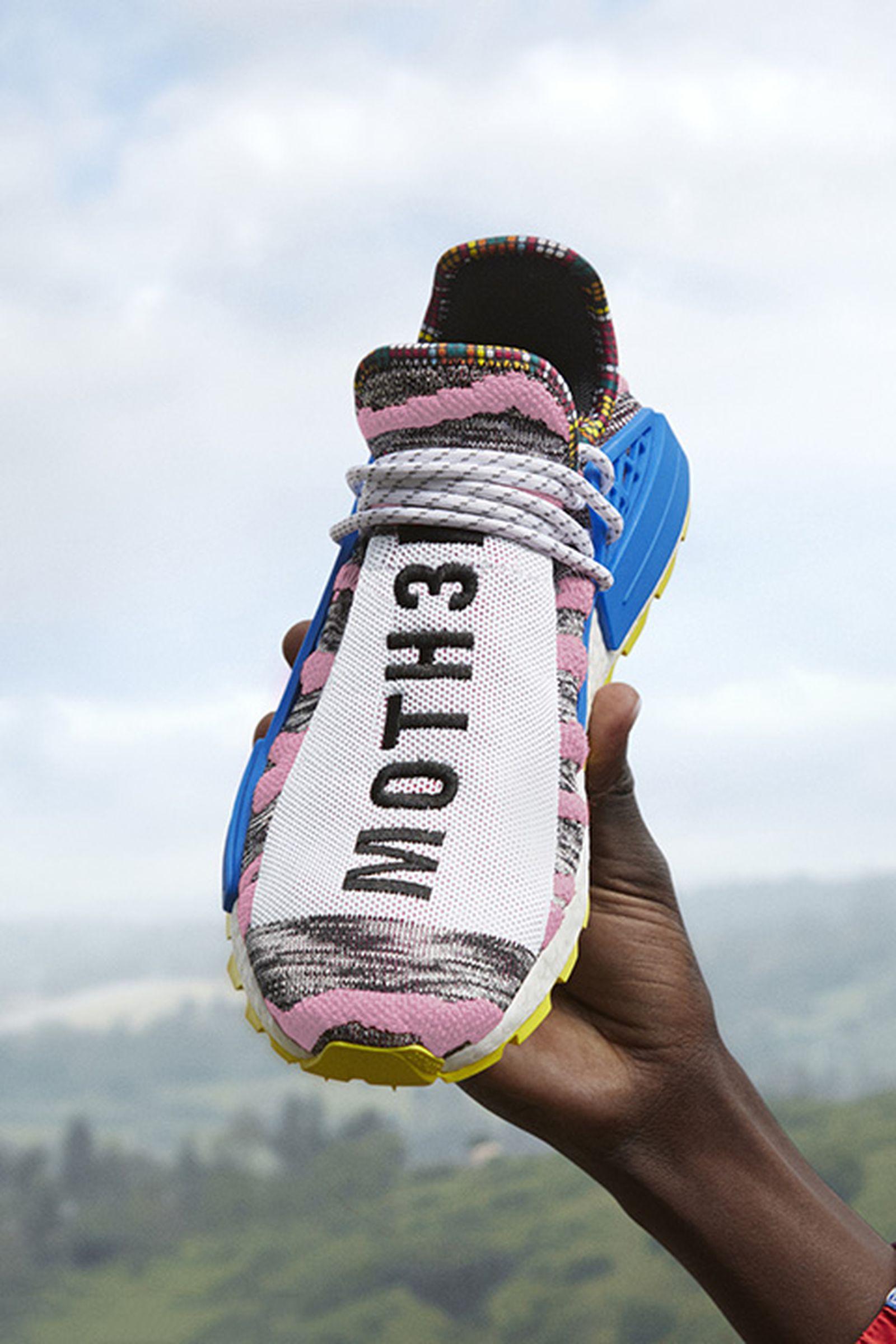"Alivio Aplicable En detalle  Pharrell Williams x adidas Originals NMD Hu ""Solar"": Where to Buy"