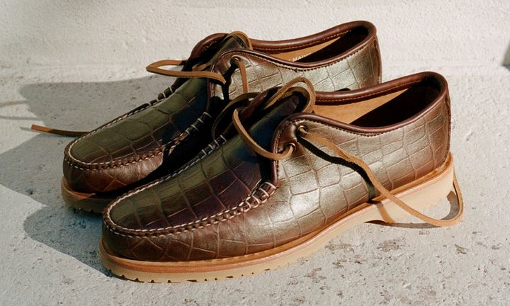 Noah x Sperry Captain's Oxford brown