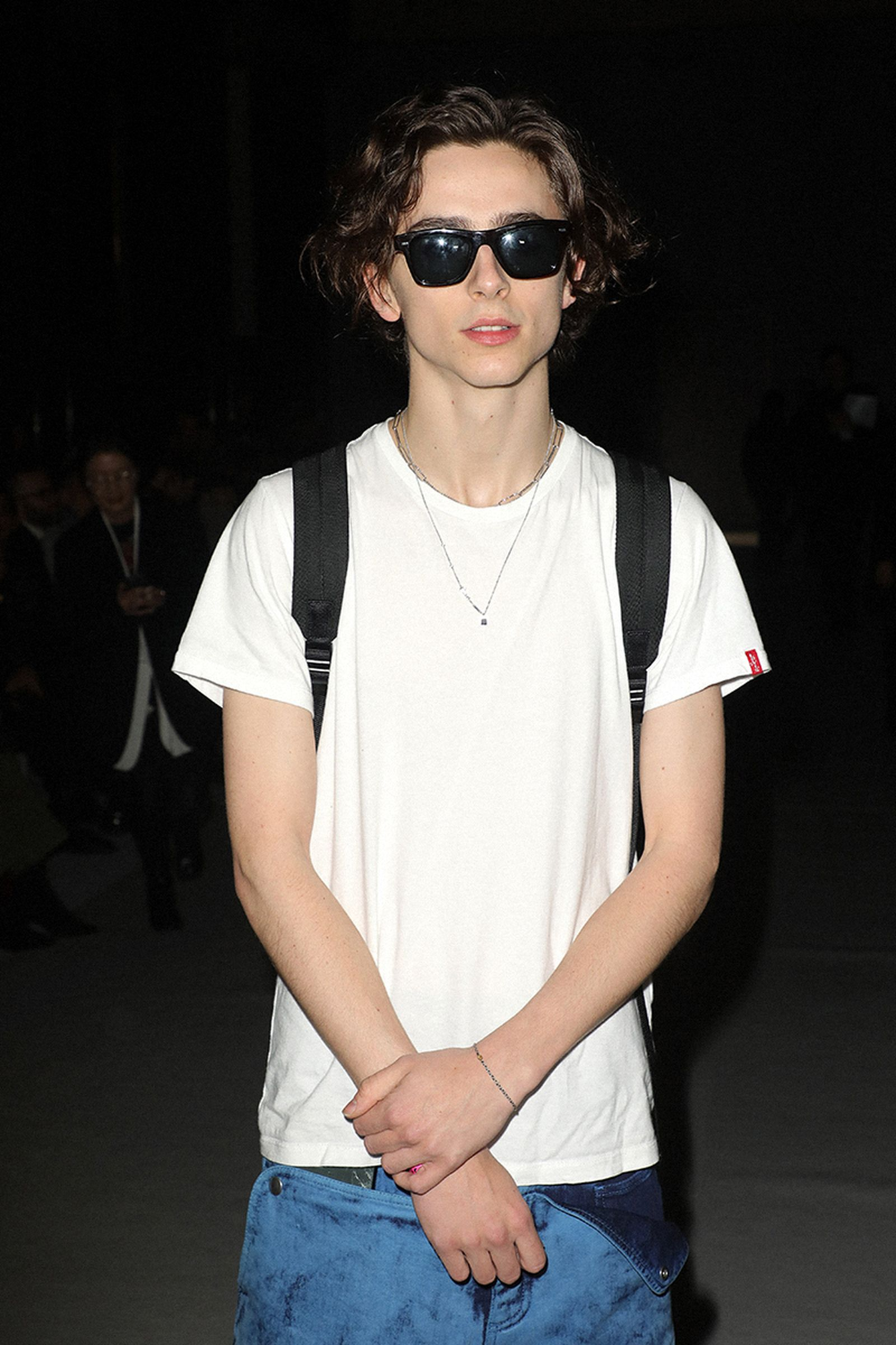 Timothee Chalamet attends the Haider Ackermann show as part of the Paris Fashion Week Womenswear Fall/Winter 2020/2021 on February 29, 2020 in Paris, France