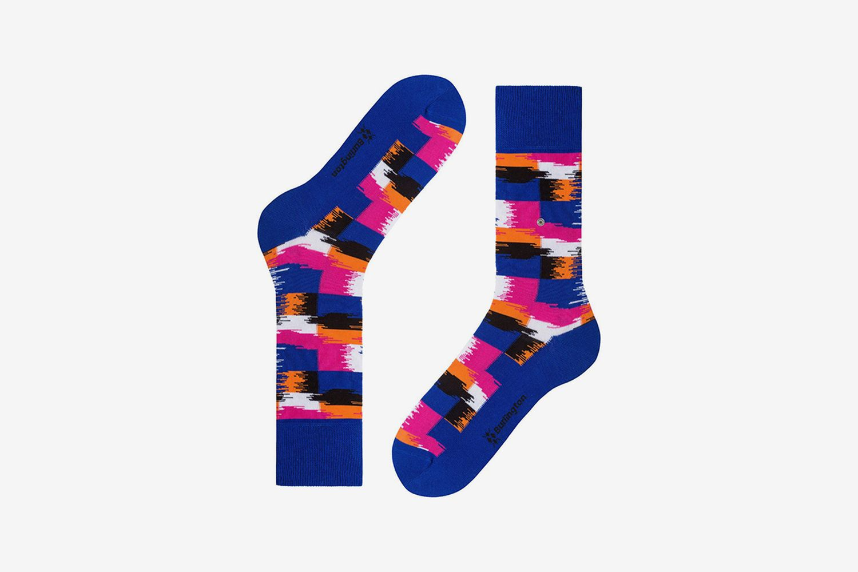 Painted Check Socks