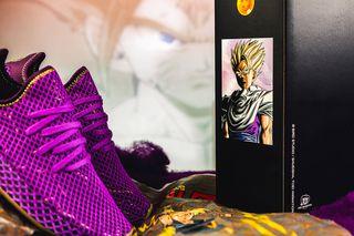 "43c7dfa5e14f0 43einhalb. Previous Next. Brand  Dragon Ball Z x adidas. Model  Deerupt ""Son  Gohan"""