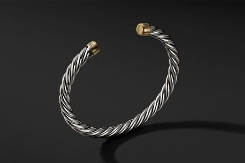 Cable Classic Cuff Bracelet w/ 18K Gold