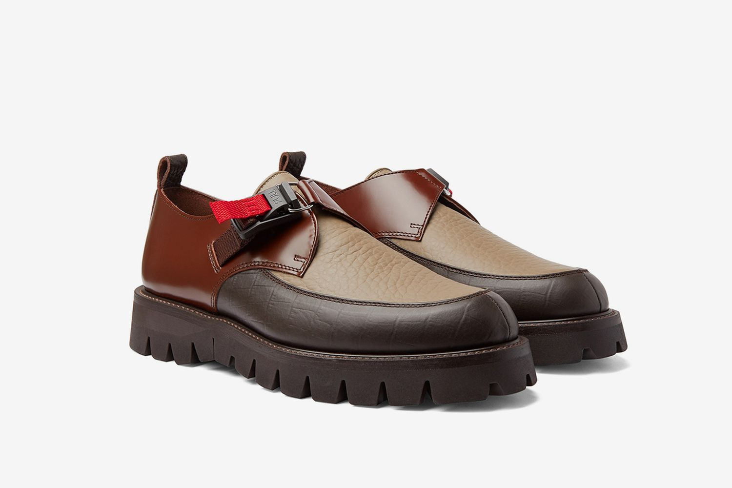 Fidmonk Smooth Leather Derby Shoes