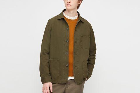Washed Jersey Work Jacket