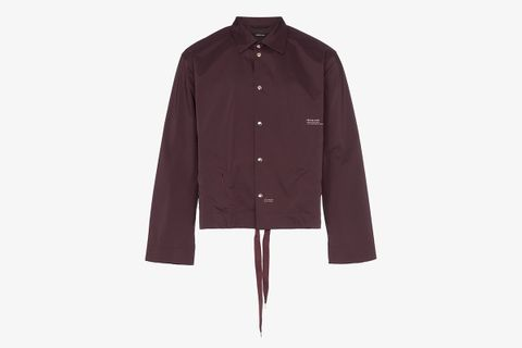 Drawstring Hem Shirt Jacket