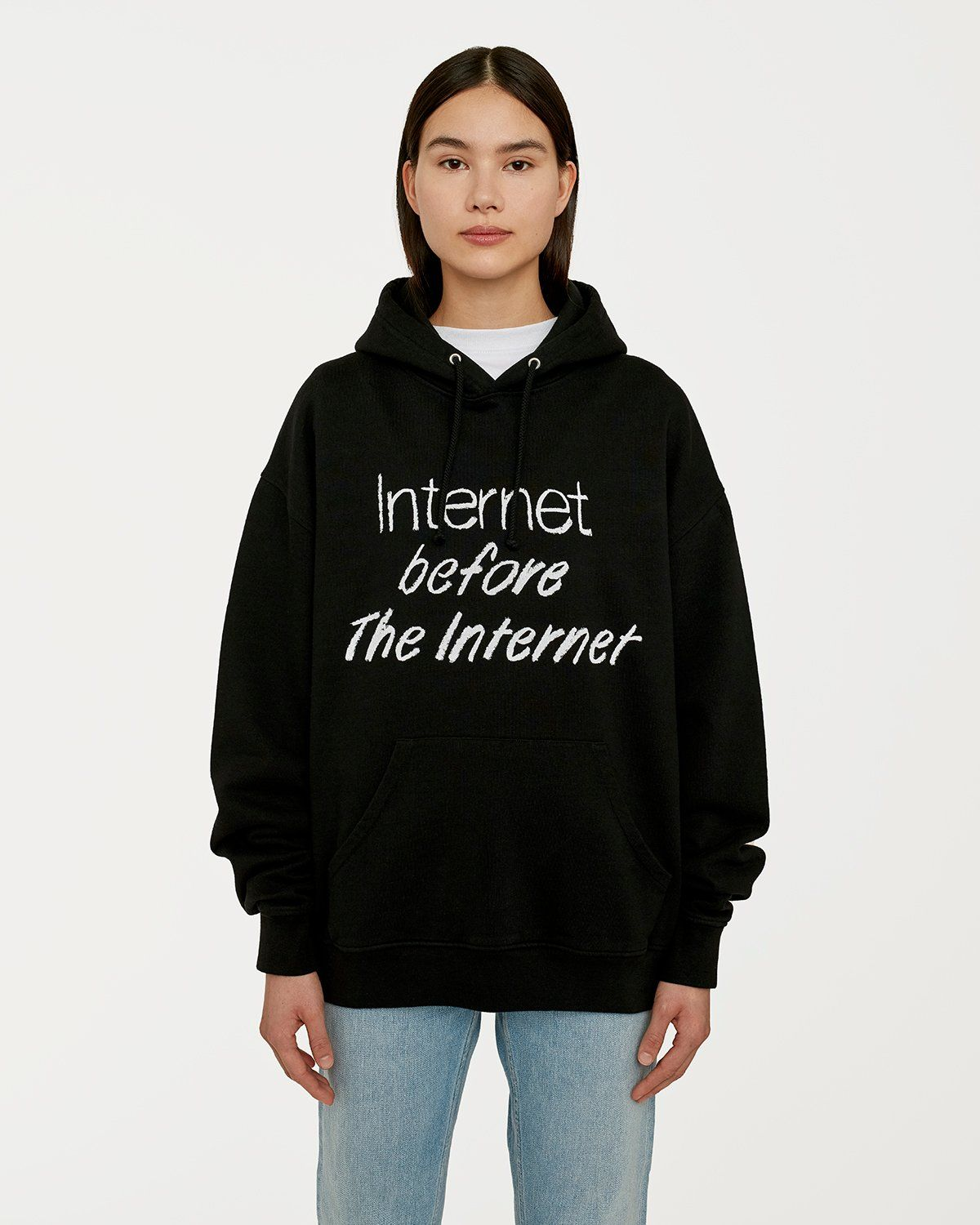 Colette Mon Amour — The Internet Before The Internet Hoodie Black - Image 4