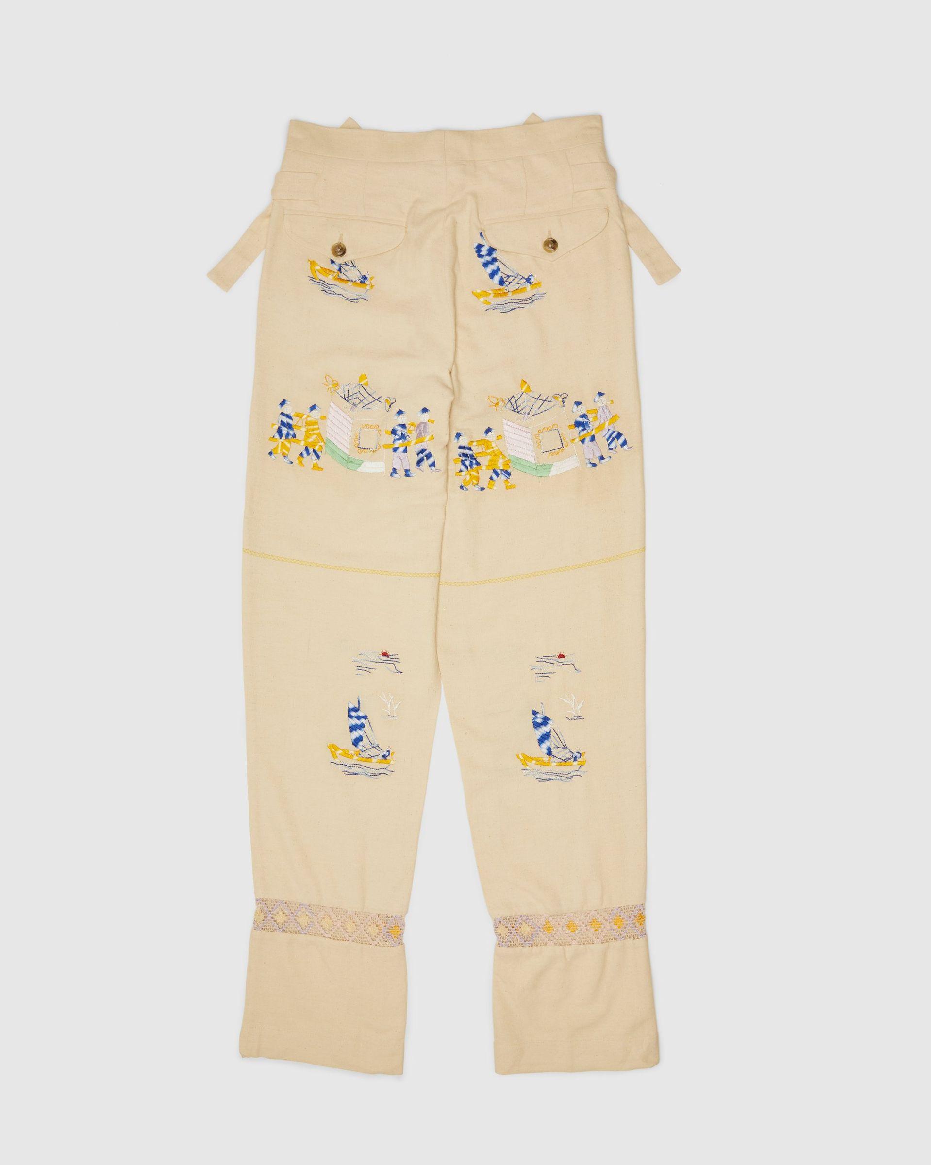 BODE - Sailing Tableau Trousers Tan - Image 2